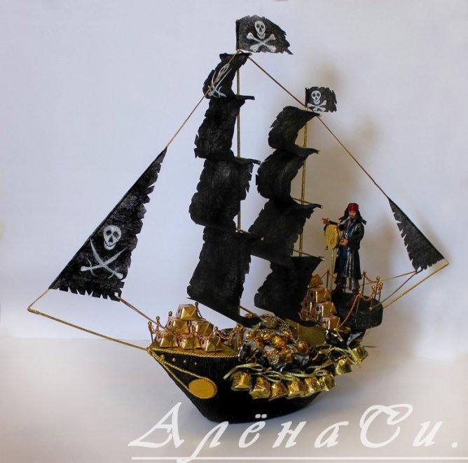 Сделать пиратский корабль своими руками