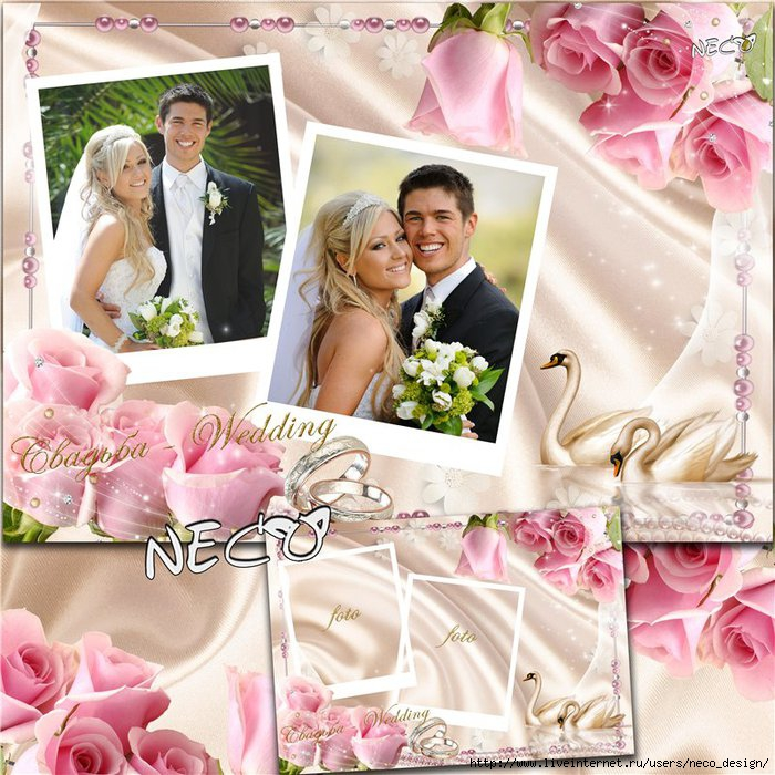 1334577580_Wedding_frame_swans_pink_roses_by_Neco (700x700, 306Kb)