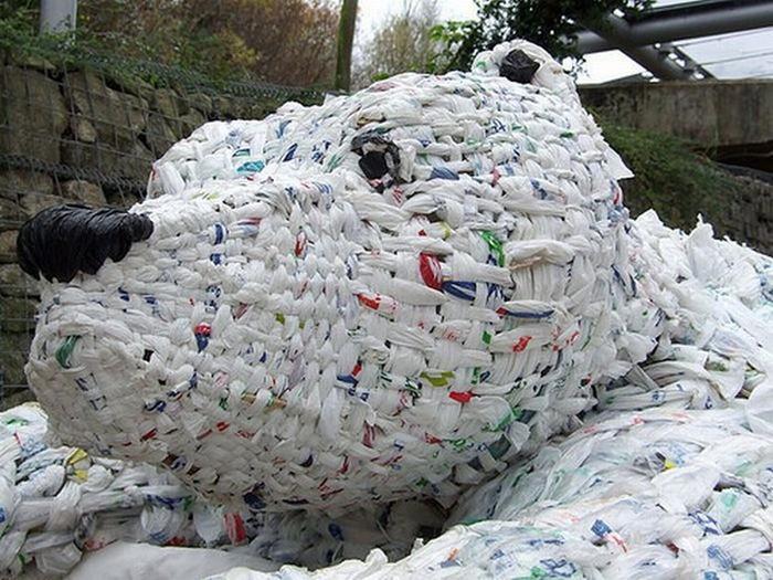 Красивые скульптуры из мусора 45 (700x525, 121Kb)