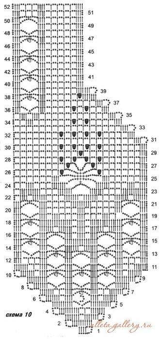 Ажурное вязание крючком схемы филейного вязания