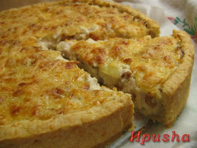 Пирог жульен с курицей и грибами рецепт