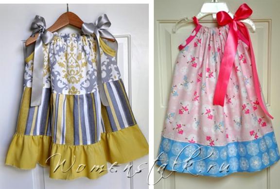 Простое платье на кулиске