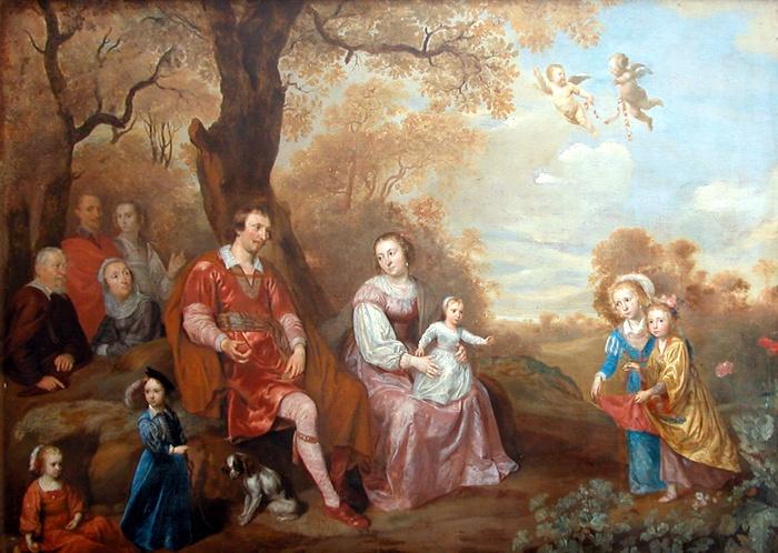 Portrait d'une famille aristocrate hollandaise (700x498, 172Kb)
