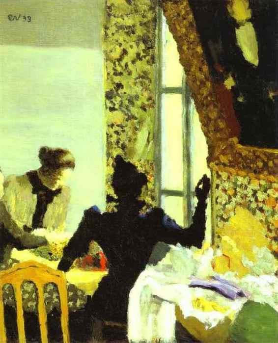 Длина тему или внутренних дел с женщинами швейные  L'Aiguillée НУ Интерьер AUX couturières. 1893 (566x700, 38Kb)