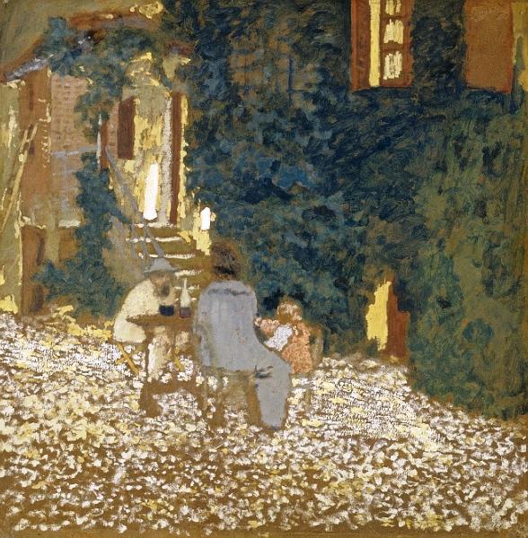 Трапеза в саду (588x600, 266Kb)