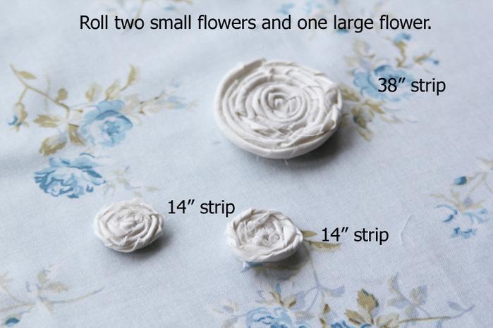 Сделайте маленькие розочки из ленты, пришейте к фетровой основе и получите очень красивое украшение и не обязательно...