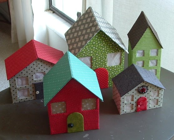 Домики из картона своими руками фото для кукол