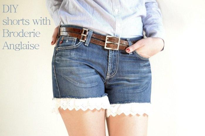 Шорты из старых джинсов своими руками фото