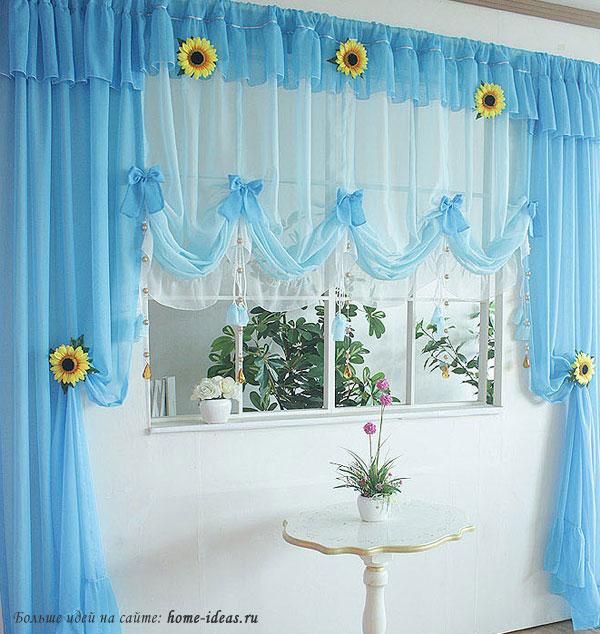 Шикарные шторы для кухни фото