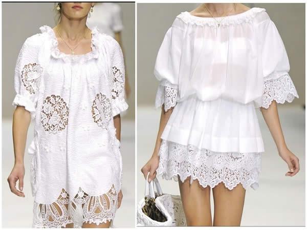 2. 1. Кружевное платье белого цвета - хит летнего сезона 2011 года.