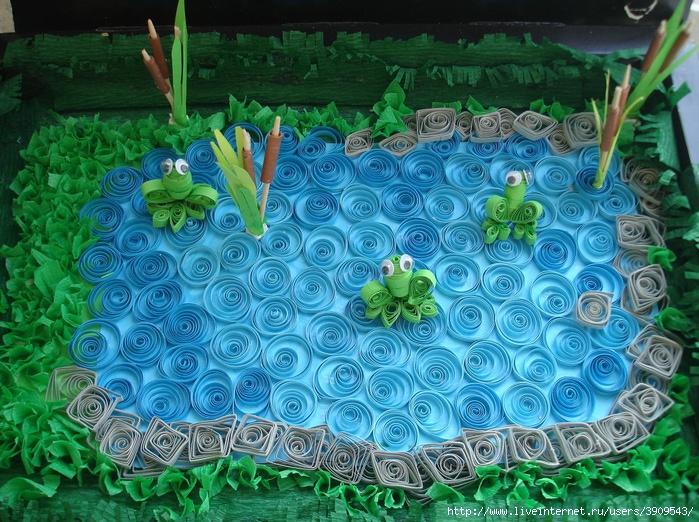 Поделка декоративное озеро своими руками
