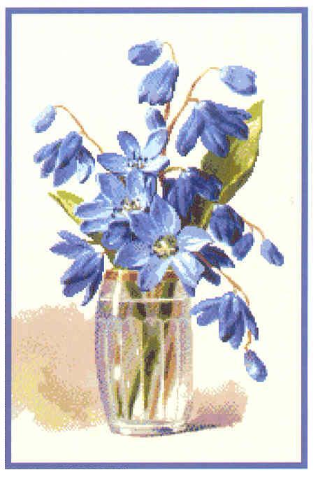 7 схем. Цветы. Вышивка крестом