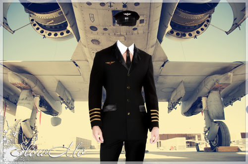 Мужской шаблон для фотошопа - Пилот в черной униформе на фоне самолета/1336584946_Pilot_2 (500x330, 70Kb)