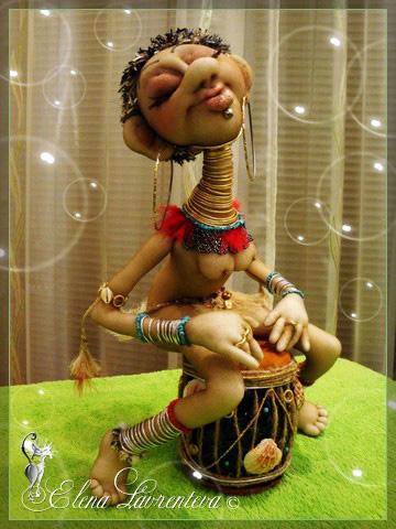 Кукла африканка мастер класс