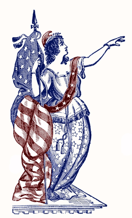 lady liberty vintage graphicsfairy008c (424x700, 181Kb)