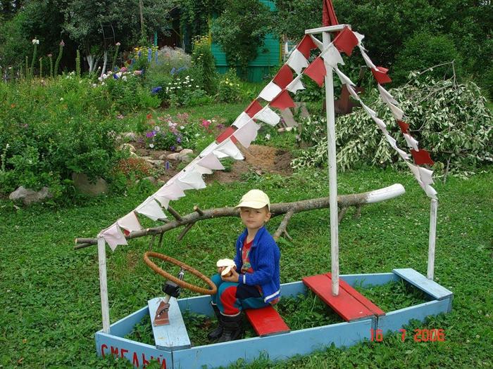 Кораблик на детскую площадку своими руками из дерева 77