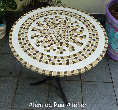 Своими руками столешница из мозаики