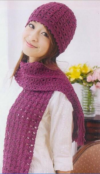 Шапочка и шарф вязаные красивым, интересным узором при помощи линейки и крючка/4683827_20120511_071513 (350x607, 77Kb)