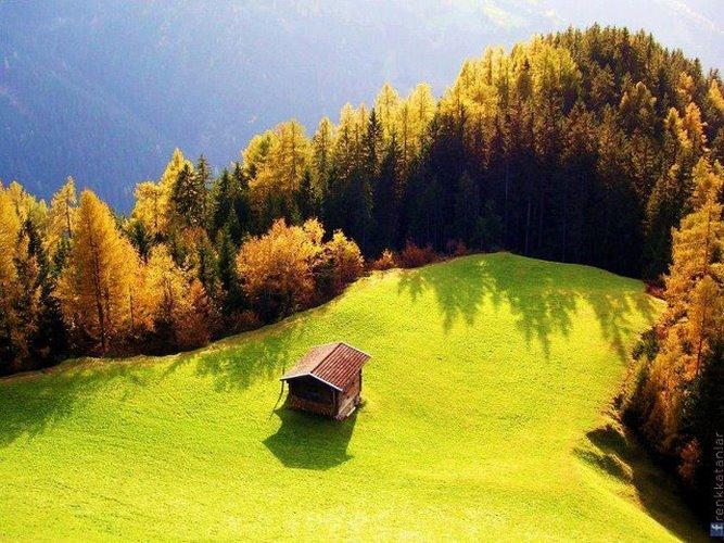 Дом в горах, Швейцария (667x500, 95Kb)