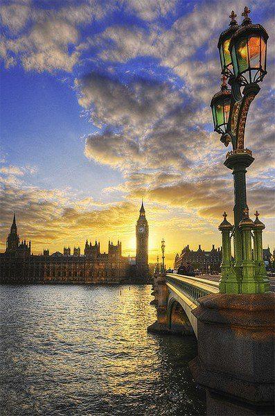 Закат в Лондоне, Великобритания (397x600, 78Kb)