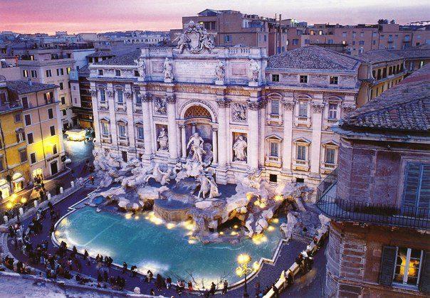 Фонтан Треви, Рим, Италия (604x419, 83Kb)