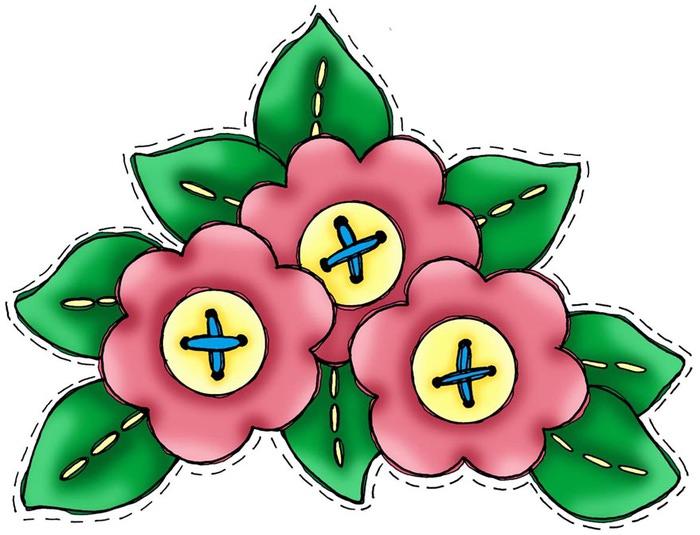 3 Flowers (700x535, 87Kb)