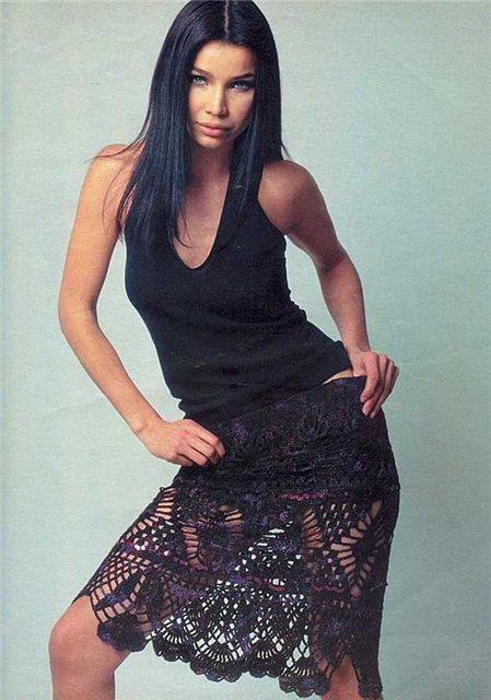 Вязание платья со схемами - ПЛАТЬЯ .  Вязание спицами и крючком.
