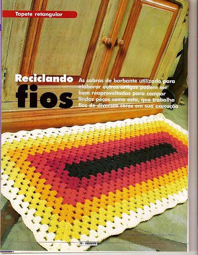 Далее схема вязания коврика