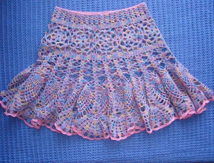 обвязать низ юбки: