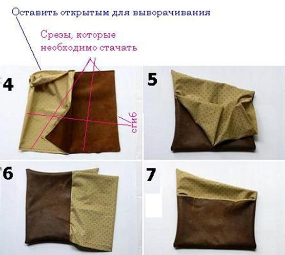 Как раскроить сумку клатч