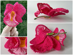 Описание гуглится по запросу ''вязаная орхидея''. орхидея броши вязаные цветы.
