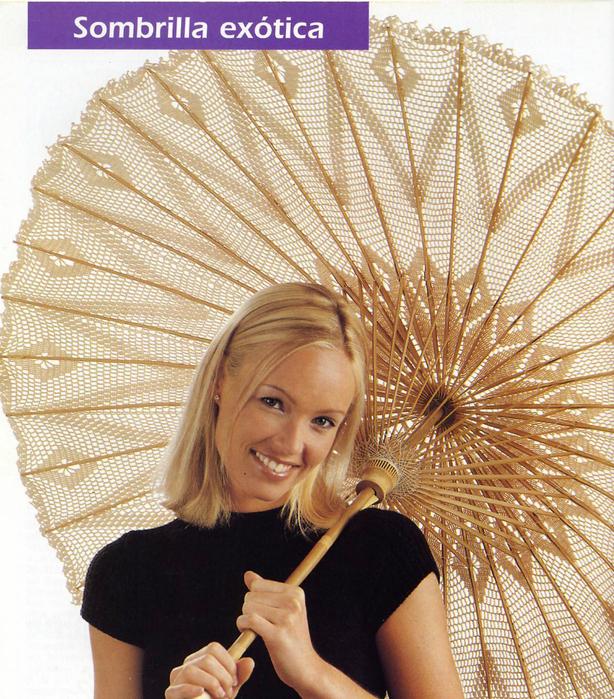 Очень красивые зонтики крючком + схемки.