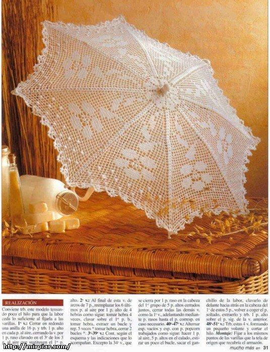Очень красивые зонтики крючком + схемки.  - Babyblog.ru.