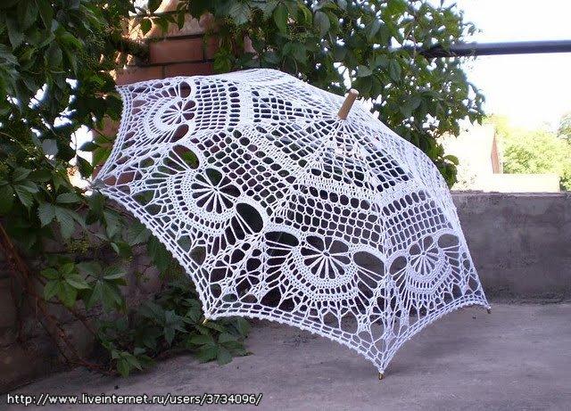 Летний вязаный зонт 1.