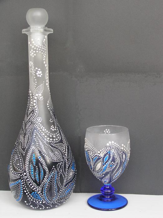 Бутыллка и бокал (523x700, 455Kb)