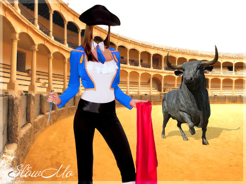 SlowMo, Photoshop, Templates, Costumes, PSD, Исходники, Шаблоны, Костюмы, Наряды, Фотомонтаж, Фотошаблоны, Тореадор, Коррида, Девушка, Бык, Toreador, Красная тряпка, Girl, Bull, Corrida, Toreador, Torero, Woman, Red Rag, Ronda/1337103521_PSD_Woman_Toreador (500x375, 86Kb)