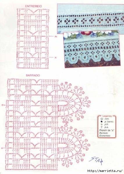 Винтажное вязание крючком со схемами 157
