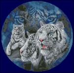 Превью Белые тигры в круге (660x648, 372Kb)