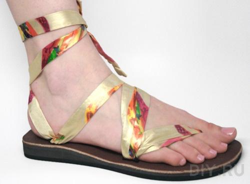Женские сандали своими руками 63