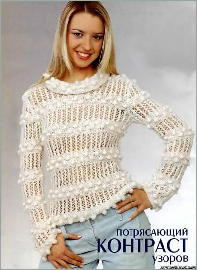 вязаный пуловер (400x548, 37Kb)