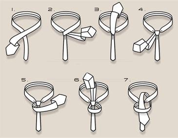 Как завязать галстук схема самый фото 893