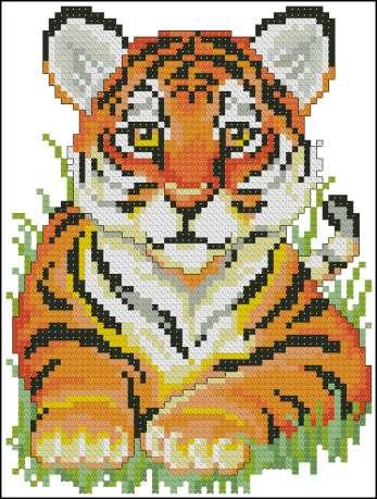 17 схем. Тигры. Вышивка