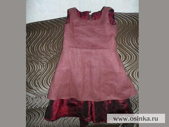 Как сшить платье на подкладке детское