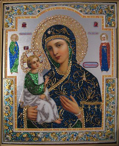 Божья матерь иерусалимская вышивка