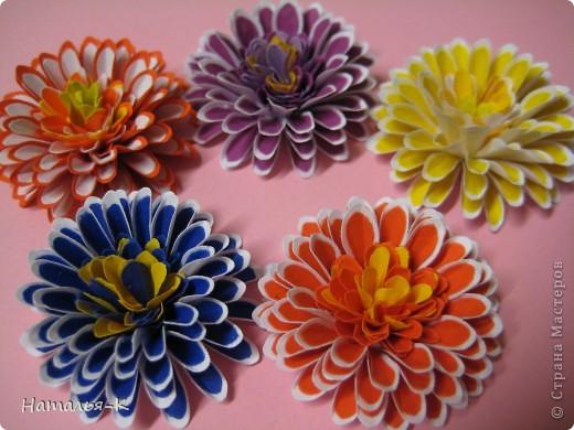 Серия сообщений цветы из бумаги