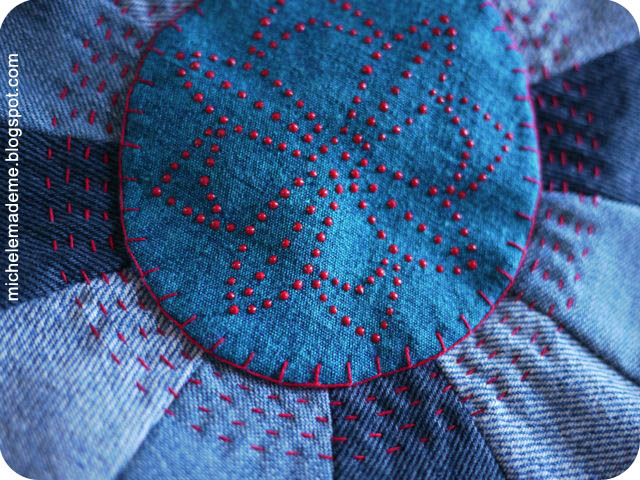 Denim Pouf Detail with embroidery and fabric paint (640x480, 135Kb)