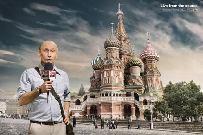 Владимир Путин Реклама CNN Live from the source