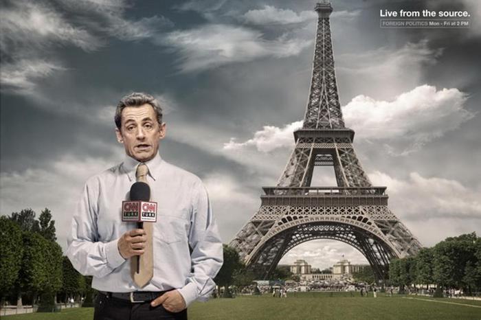 Николя Саркози Реклама CNN Live from the source