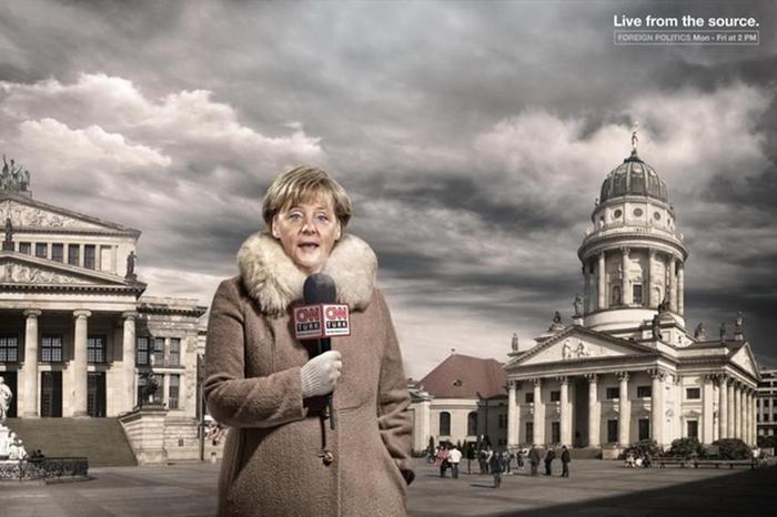 Ангела Меркель Реклама CNN Live from the source