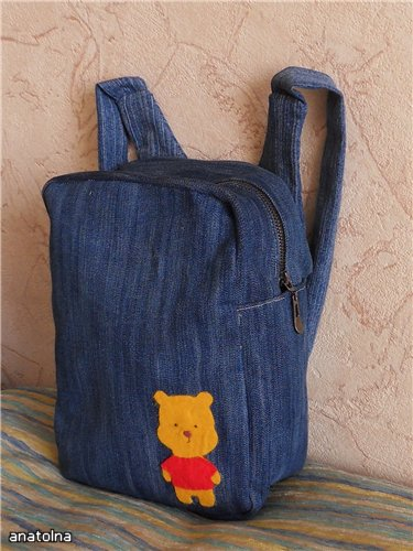 Рюкзачок из старых джинсов своими руками